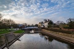 Trent Lock, Derbyshire (Geraldine Curtis) Tags: sunset trent lock derbyshire river derwent canal reflection
