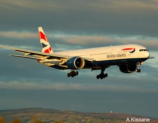 BRITISH A/W B777 G-STBB