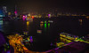 View of Victoria Harbour at Night from Renaissance View Hotel - Hong Kong (mbell1975) Tags: hongkong hongkongisland hk view hong kong harbour night from renaissance hotel sra china marriott city lights light skyscraper skyscapers office buildings building water bay harbor sea skyline victoria 香港