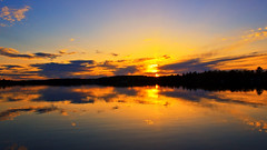 Long Time No Scene !! (Bob's Digital Eye) Tags: bobsdigitaleye canon canonefs1855mmf3556isll clouds flicker flickr lake lakesunsets lakescape may2018 orange reflections silhouette skies sky skyscape sun sunsets t3i water laquintaessenza silhouettes