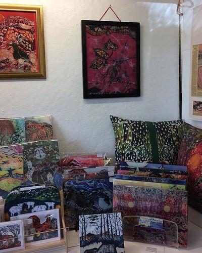 Check out new Batik artwork and gifts at VAM MaIn Street, Cambridge NY. #batik originals #art #frame #batik #gifts #pillows #scarves #cutting boards #tiles #amityfarmbatik