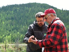 GPS refresher (BC Wildlife Federation's WEP) Tags: salmo senioratvclub workshop training education wetland wep bcwf gps