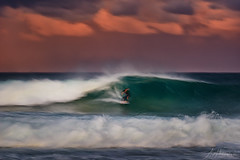 Surfer Long Exposure 01 (Crouchy69) Tags: sunset dusk landscape seascape ocean sea water wave waves flow motion coast clouds sky avalon beach sydney australia surf surfer