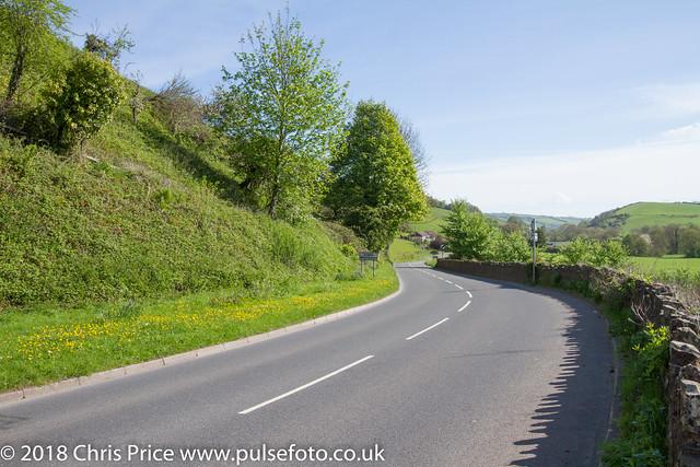 Leaving Bampton on B3227 in the direction of Taunton