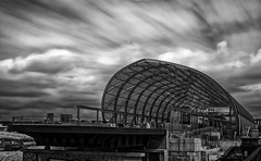 Under Construction [Explored 2018-05-18] (T.Seifer : )) Tags: architecture architektur blackandwhite blackwhite bw sky clouds longexposure nikon fx metro station subway hamburg lines geometry symmetry modern beams travel tourism whiteandblack schwarzweis whiteblack weisschwarz himmel einfarbig