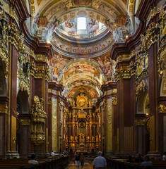 Abazia benedettina di Melk (Andreas Laimer) Tags: austria melk abazia chiesa religione interni colore olympus omd em10