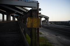 Rokkor35mm28_A7_AbandonedFreeway (52) (bad.moon) Tags: freeway minolta oakland rokkorx35mmf28 sonya7 traintracks urbanabandoned urbandecay