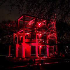 Red nightmare 2 (EXPLORE May 21, 2018 - Many thanks to you all) (ericbeaume) Tags: iphone lavillette paris nightview night red architecture lights square ericbeaume
