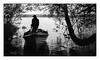 The Lunch Break (Wilco1954) Tags: shadows locharrow guide ireland flyfishing mono boat ghillie trees lunchbreak fishing apsfilm