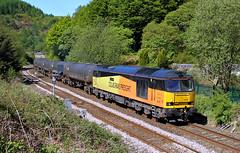 CLIC Sargent At Cornholme. (Neil Harvey 156) Tags: railway 60087 clicsargent cornholme todmorden copypitline prestondockstanks prestontanks bitumentanks 6e32 class60 colasrail colas tug