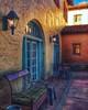 The bench.... (Sherrianne100) Tags: sunset colorful patio bench laposada winslowarizona arizona