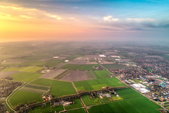 Dutch patch plaid. (Alex-de-Haas) Tags: dji dutch europa holland nederland nederlands netherlands noordholland noordzee northsea phantom phantom4 phantom4pro uav warmenhuizen aerial aerialphotography air drone landscape landschaft landschap lente lucht luchtfotografie polder sea skies sky skyscape spring sundown sunset village water zee zonsondergang nl