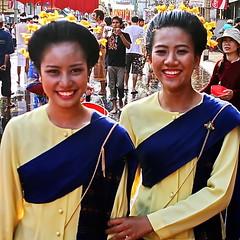 "Songkran Chiang Mai. (ol'pete) Tags: chiangmai เชียงใหม่ buddhist พุทธศาสนิชน april เมษายน makemerit ทำบุญ songkran สงกรานต์ thailand ประเทศไทย เมืองไทย festival งานฉลอง ""canoneos350d"" ""efs1855mm"" earthasia"