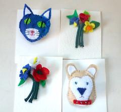 felt badges (buckaroo kid) Tags: london uk felt craft badges dog cat flowers handmade
