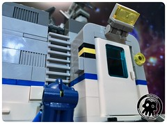 48-08 Reaching for the Ladder (captainmutant) Tags: afol classic space lego ideas legospace legography photography minifig minifigs minifigure minifigures moc sciencefiction science fiction scifi exploration brickography toy custom
