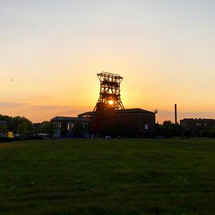 Doppelbock Sunset (masteruser1999) Tags: undustrial coalmine culture industriekultur förderturm consolidation consolpark consol zeche doppelbock bismarck gelsenkirchen masteruser199