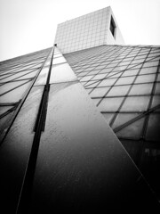 Rock Hall Of Fame Cleveland (michaelwalker19) Tags: noir blackandwhitecleveland rockandrollhalloffame angles architecture museums cleveland downtowncleveland wet rainy fog clevelandarchitecture