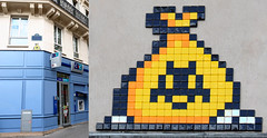 Space invader [Paris 3e] (biphop) Tags: europe france lyon paris streetart space invader spaceinvader mosaic mosaique wall mur installation 75003 pa1347