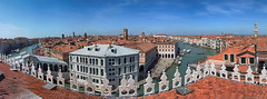 Above the roofs of Venice (pe_ha45) Tags: venedig venise venice veneza fondacodeitedeschi rialtobridge rialtobrücke canalgrande roofs dächer italy italien mittelmeer mediterraneansea serenissima