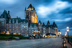 The iconic Chateau Frontenac / Quebec (zilverbat.) Tags: canada quebec tripadvisor travel visit avondfotografie longexposurebynight avond longexposure clouds sky urbanvibes zilverbat bluehour blue architecture building nightphotography nightlights nightshot dusk urban image city citytrip cityscape hotel hotspot iconic chateau frontenac tour map boulevard dufferin unesco werelferfgoed erfgoed heritage history dramatic windows