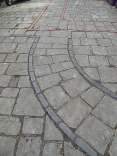 Footprint of St Peter's Church, rear of God Begot House, Winchester