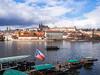 Vltava river in Prague, Czech Republic (yuyugreen) Tags: チェコ ヨーロッパ プラハ 川 街 首都 船 水 czech prague europe river city capital ship water sky