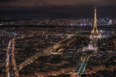 Oh là là (karinavera) Tags: city longexposure night photography cityscape urban ilcea7m2 tower eiffel aerial paris view tour