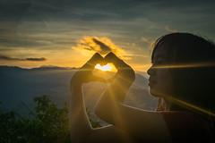 Daylight Heart Shape (Sayrha07) Tags: heart shape light sunrise la trinidad benguet mtkalugong beam rays