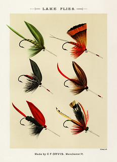 Lake Flies from Favorite Flies and Their Histories by Mary Orvis Marbury. Digitally enhanced from our own original 1892 Edition.