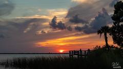 Sunset over Lake Washington (Michael Seeley) Tags: canon fl florida lake lakewashington landscape melbourne mikeseeley shoreline spacecoast sunset