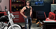 New Shed (Toby ~) Tags: catwa belleza jake secondlife shed motorbike portrait