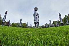 4371 (Yorkshire Pics) Tags: yorkshire yorkshiresculpturepark ysp 1105 11052018 11thmay 11thmay2018 sculpture zakove blackandbluetheinvisibleman blackandbluetheinvisiblemanandthemasqueofblackness sculpturearmy armyofsculptures