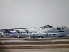 Spanair MD 80s (Gerry Rudman) Tags: mdc mcdonnel douglas md80 spanair san antonio texas