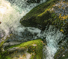 Water Carving The Boulder (Mike Pesseackey (UAGUY1)) Tags: water boulders streams rocks mountains algae creeks photoshop smokymountains tennessee nikond7500 macro nature