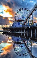 The Santa Monica Pier (Iga Supernak) Tags: flickr clouds lights colorful santamonicapier ocean water pier usa reflection pacificpark amusementpier santamonicabeach landmark california californiasunset sunset ferriswheel canon ca colors seascape outdoors photooftheday photography relax sand beach southerncalifornia igasupernakphotography igasupernak igaphoto santamonica