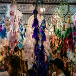 Psychedelic dream catchers, at Sunday Walking Street thumbnail