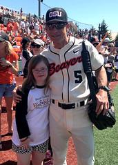 Suzanne and Coach Casey (C.P. Kirkie) Tags: baseball pac12 pac12baseball oregonstatebeavers corvallis oregon downsyndrome dsno ndsc ndss gossstadium