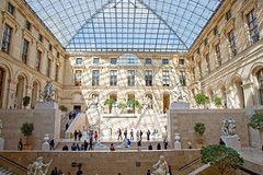 Inside the Louvre (YetAnotherLisa) Tags: paris louvre museum interior france