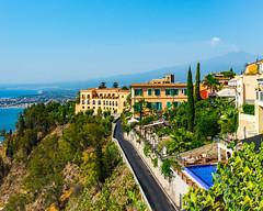 Taromina Sicily (Daveyal_photostream) Tags: nikon nikor nature road meandmygear mygearandme mycamerabag ocean sky waterscape landscape d600 mountains beautiful beauty tree city coast slyline vibrant colorful