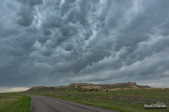 Mammatus Over Bluff (kevin-palmer) Tags: spring may wyoming nikond750 storm stormy thunderstorm clouds weather supercell mammatus lagrange road sky green grass tamron2470mmf28 hills bluff