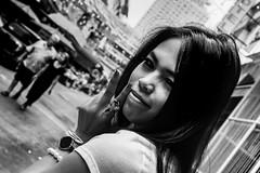 Bangkok girl (RichardB007) Tags: asianbeauty bangkok girl thailand city street asia asian cute beauty pretty soi bw bnw blackwhite portrait thai