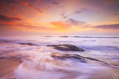 Baywatch... (Charlie_Joe) Tags: india incredibleindia indiatourism chennai travel kovalam beach rocks sunrise sea bayofbengal clouds longexposure fstopgear reallyrightstuff sky nature landscape outdoor motivation inspiration milky waves mist seaside seascape sand silky