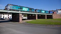 Frame Filler (Richie B.) Tags: 68018 68016 6k74 vossloh caterpillar drs direct rail services pfa iso harrington workington cumbria