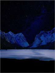 Il Bacio 2 (Gio_guarda_le_stelle) Tags: dolomiti dolomites dolomiten dolomite night lake nightscape mountainscape landscape stars ice lago toblach dobbiaco notte bacio artwork quiete atmosfera atmosphere snow freddo cool photomege phortoshop canon eos imperfetto vento wind i italy italia trentino orion orione cintura