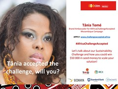 Personality Tania Tome Ambassador of African Challenge Iniative (mbusinessmozmagazine) Tags: tania tome africa challenge accepted sab abinbev cdm ambassador brand coach international advisor award winner rich best forbes young african leader entrepreneur influencer usd tânia tomé 50000 innovators top sectors sdg sustanable development goals