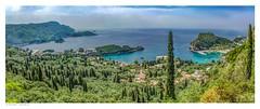 Paleokastritsa panorama, Corfu. (Richard Murrin Art) Tags: paleokastritsapanorama corfu greece richard murrin sea sky