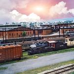 Steamtown National Historic Site - Scranton Pennsylvania  -  Vintage Photo thumbnail
