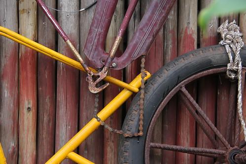 Rusty stuff, at the Harambe bikes shop