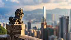 Guardian of the Towers (Joachim Wuhrer) Tags: joachimwuhrer hongkong asia victoriapeak peak thepeak lionspavilion summer holiday sunrise central sony sonya7iii a7iii sel55f18z zeiss