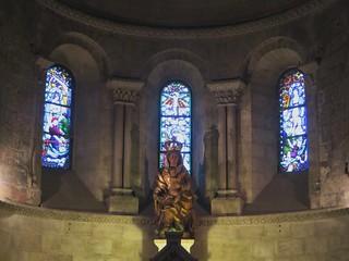 Chapelle de la Vierge, église abbatiale Sainte Croix (XIe-XIIe-XIXe), style roman saintongeais, Bordeaux, Nouvelle-Aquitaine, France.